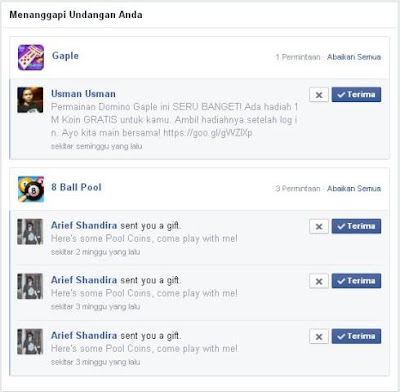 Cara Memblokir Undangan Aplikasi Permainan Di Facebook