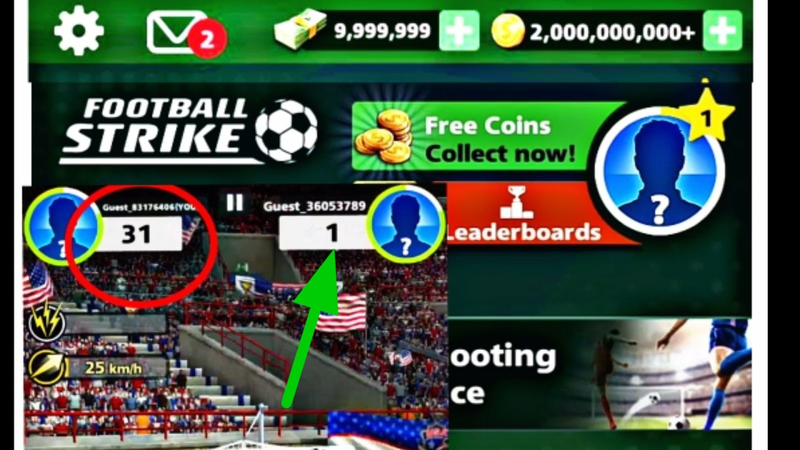 Football Strike Mod Apk 1 11 0 Hack Working With Game Guardians
