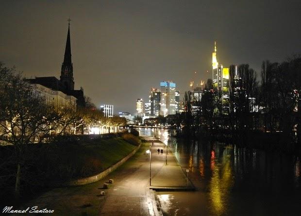 Francoforte, vista dall'Alte Brucke