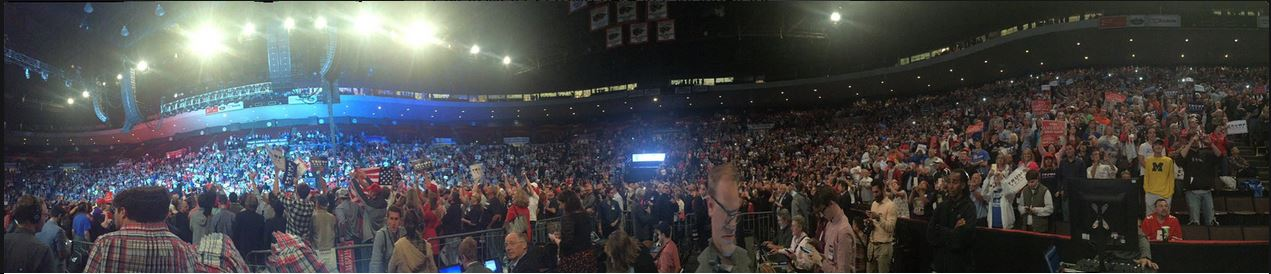 Doing advance work 10000 rally for trump in cincinnati ohio at us 10000 rally for trump in cincinnati ohio at us bank arena oct 13 2016 publicscrutiny Image collections