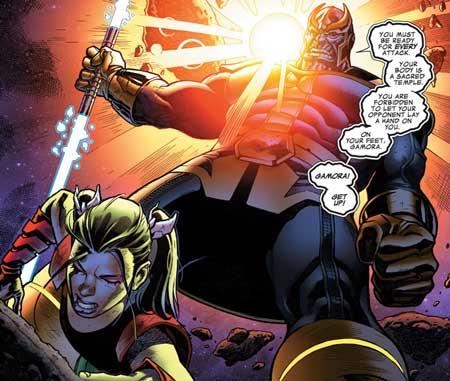 Gamora dilatih oleh Thanos