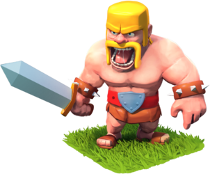 Coc, Clash of clans, prajurit, barbarian