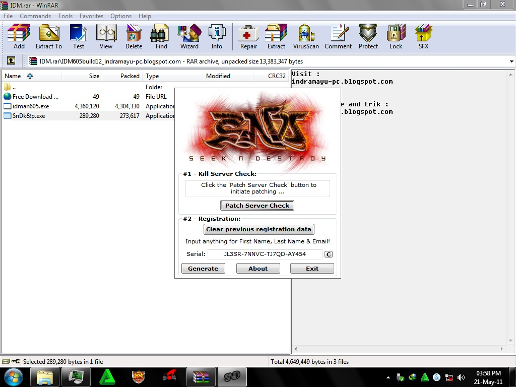 idm 6.05 crack file free download