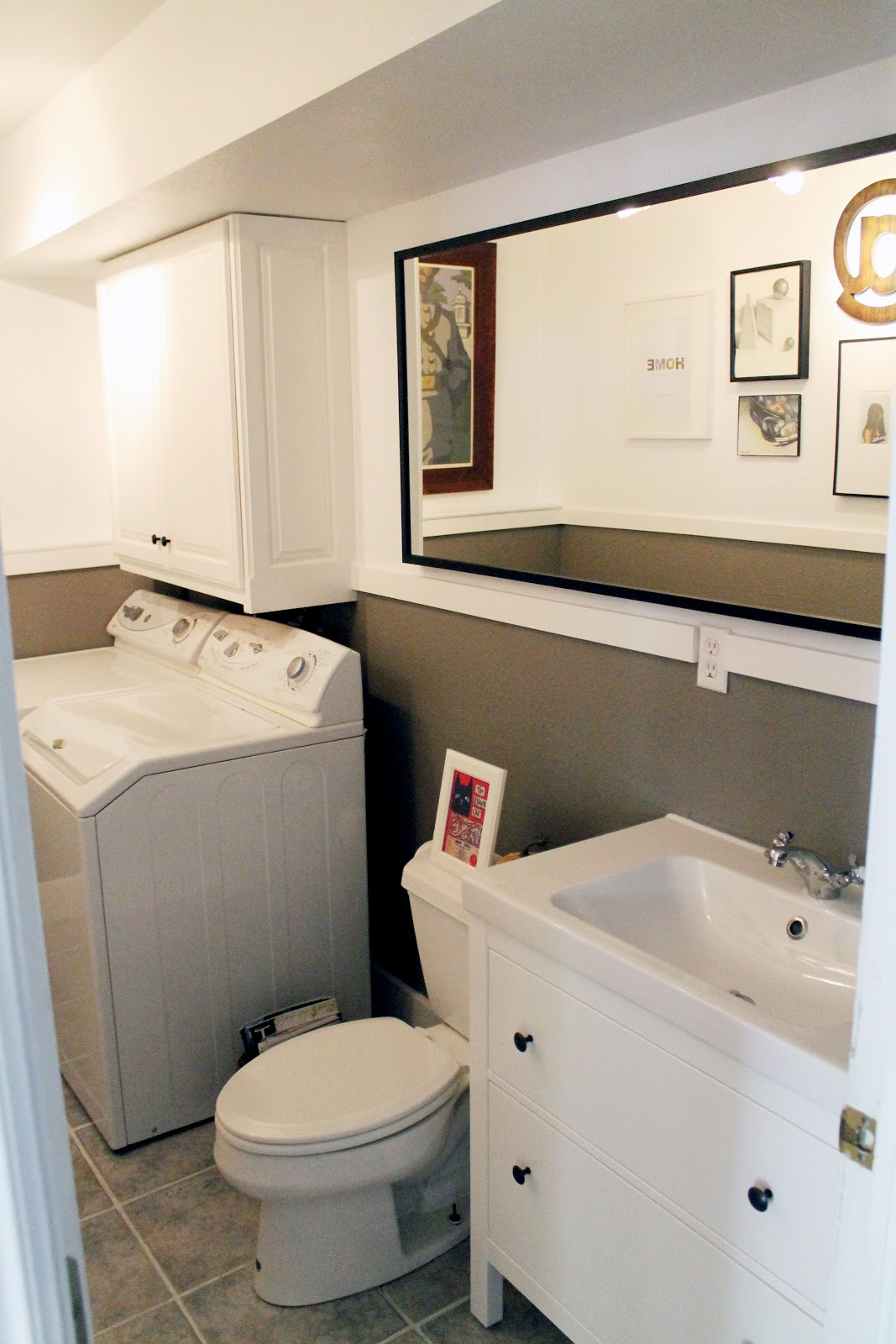 laundry room/half bath before and afters - chris loves julia