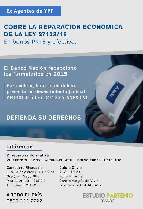 Cobre la Reparación Económica de la Ley 27133/15
