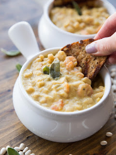 garlic white bean soup