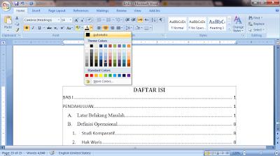 loading daftar isi otomatis