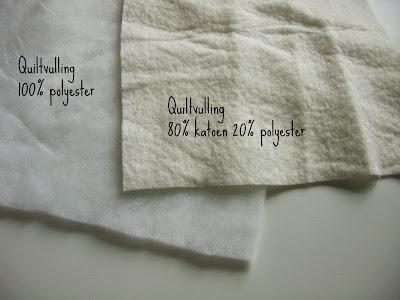 katoen en polyester tussenvulling voor quilt
