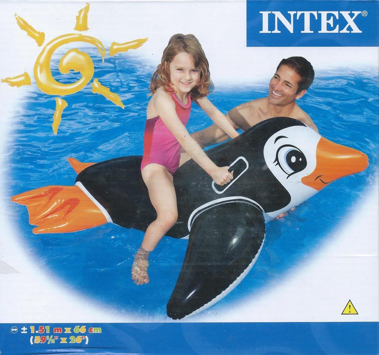 Intex Lil Penguin Animal Ride On Aa13 Btc Pool Float Store