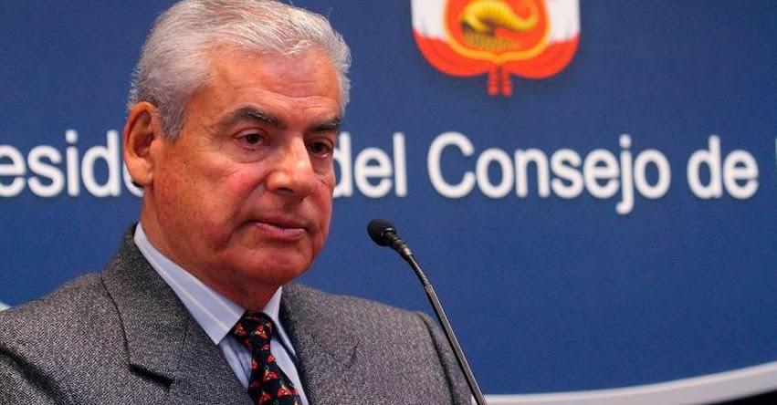 Eligen a César Villanueva para asumir la Presidencia del Consejo de Ministros - PCM