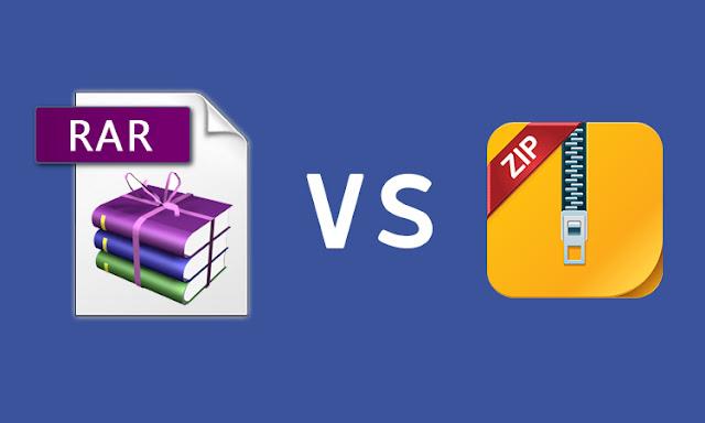apa Perbedaan File RAR dan ZIP ?