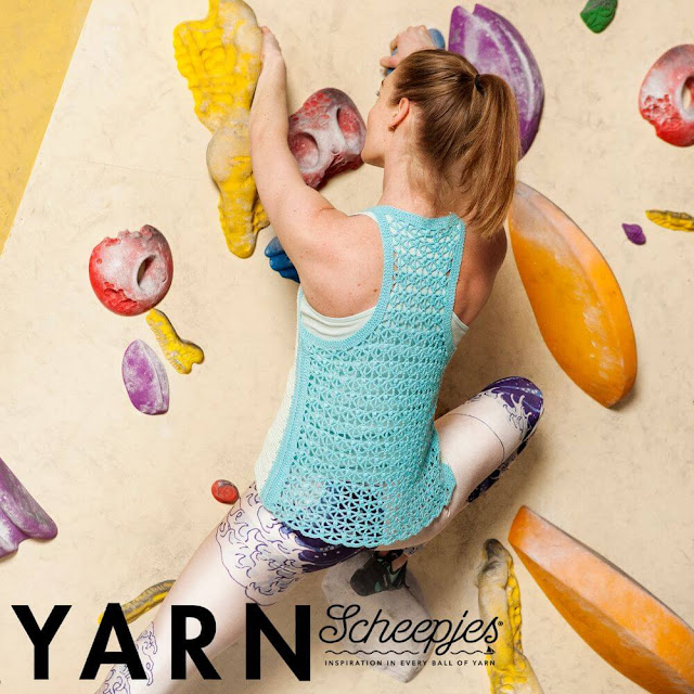 Wave Rider's Tank by Susan Walsh  Yarn: Scheepjes Whirlette*  Instagram: @peppergoose