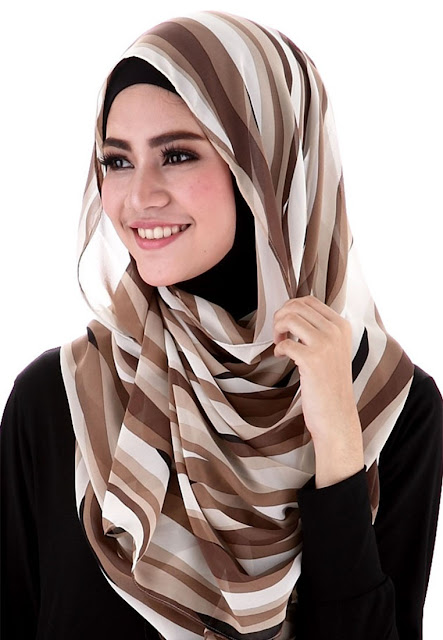 Model Pashmina Sifon Simple Gaya Murah Terbaru 2016