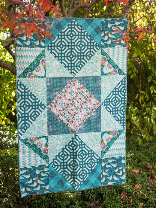 Secret Garden Quilt Free Pattern Designed FreeSpirit, Featuring Modernist Collection by Joel Dewberry