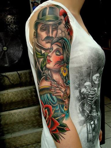 Este 1920 casal de tatuagem