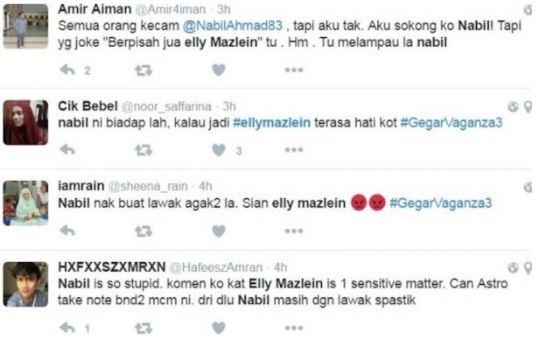 """Lawak Nabil Terhadap Elly Mazlein Melampau"" - Netizen"