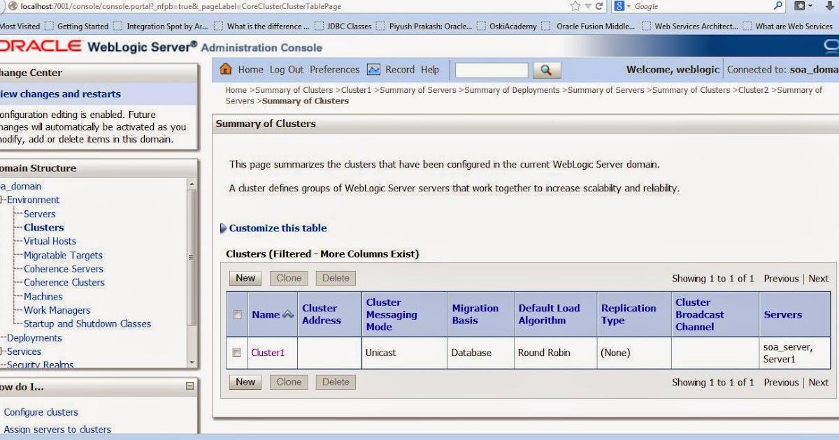 Gowtham's SOA Blog: Create and Configure Clusters on WebLogic