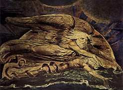 Elohim creando a Adán, por William Blake