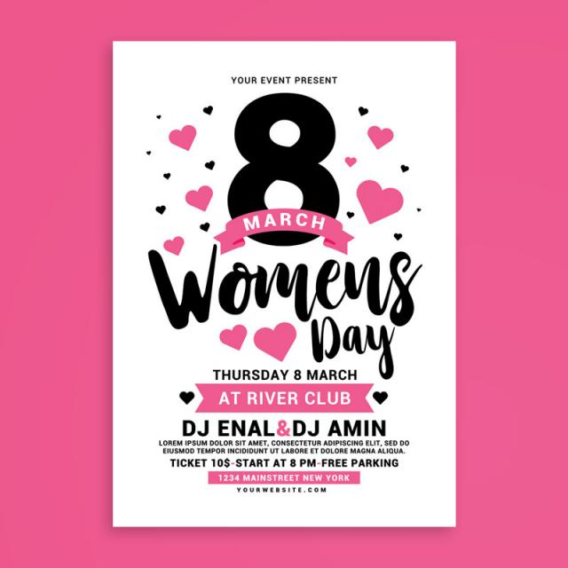 Womens Day Flyer 8 march free PSD