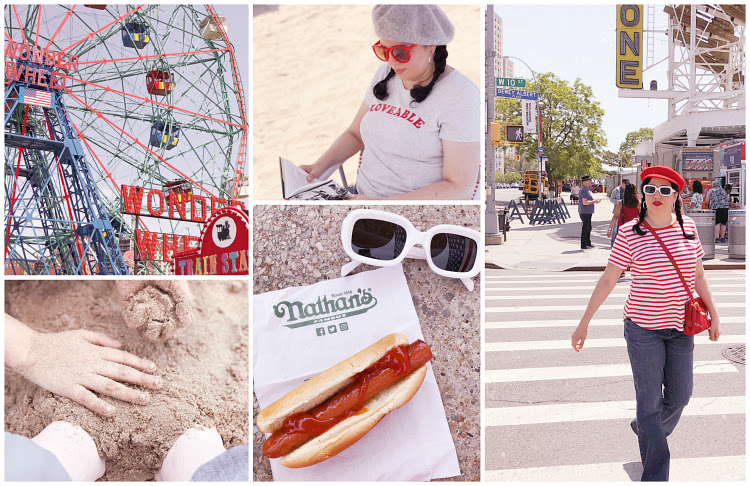 A Vintage Nerd, Vintage Blog, Retro Fashion Blog, Coney Island Wonder Wheel, Vintage Inspired Fashion Blog, Iconic Coney Island Spots