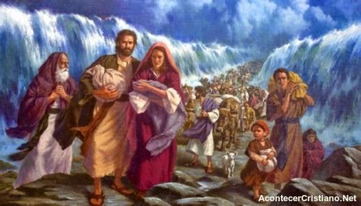 El pueblo de Israel cruza el Mar Rojo