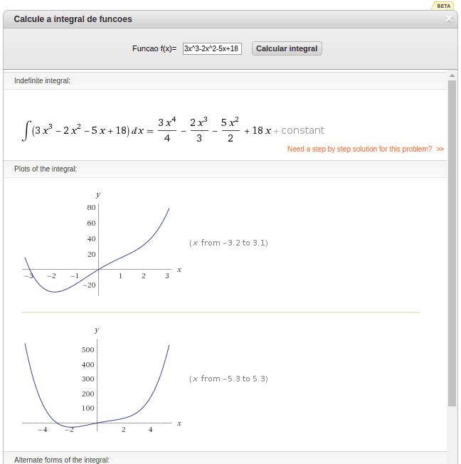 Calcule integrais de funções matemáticas online com esse widget