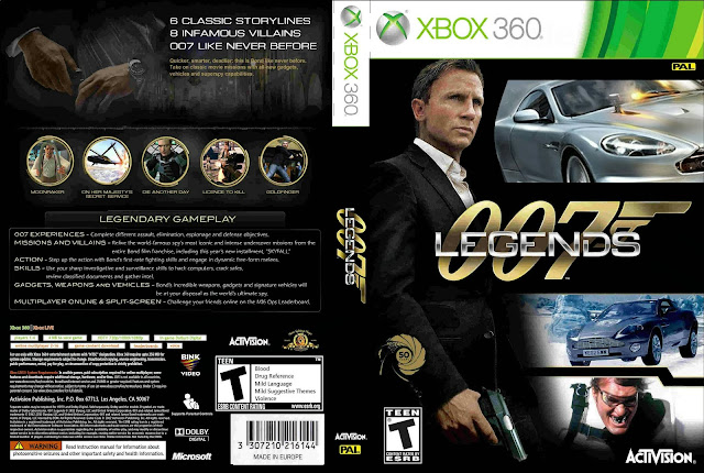 Capa 007 Legends Xbox 360