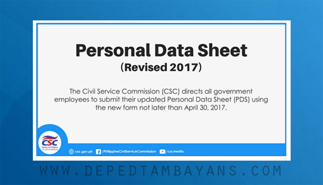 Download Personal Data Sheet (PDS) - (New CSC Form 212 Revised 2017)