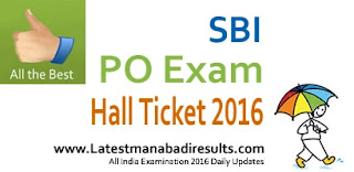 SBI PO Admit Card 2016, SBI Pre-Exam Training Hall Ticket 2016, SBI PO Prelims Admit Card 2016, SBI PO Call Letter for July 2016, SBI PO Prelims Admit Card Slip 2016, Download SBI PO Hall Ticket 2016