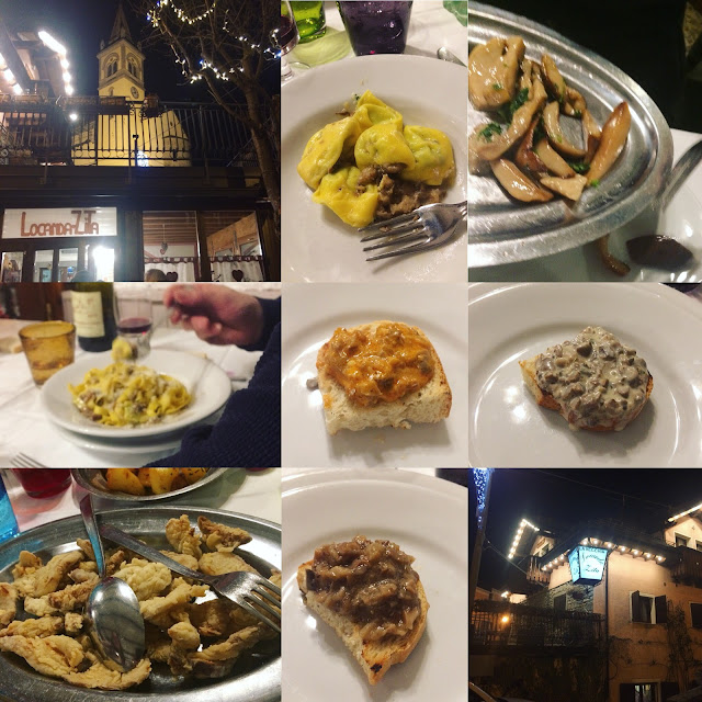 Eating in a Slow Food recommended restaurant in Italy