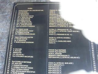 Prasasti granit Makam Tebuireng Jombang