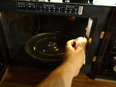 wipe oven