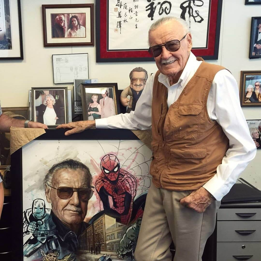 03-Stan-Lee-Ben-Jeffery-Superhero-and-Villain-Movie-Paintings-www-designstack-co