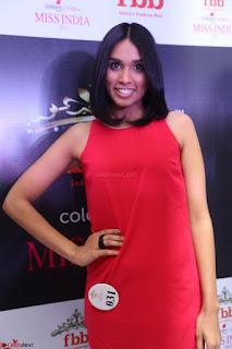 Spatika Surapaneni in Red Tight Dress at FBB Miss India 2017 finalists at Telangana auditions Feb 2017 (29).JPG