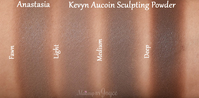 Kevyn Aucoin The Sculpting Powder in Light Medium Deep Swatches