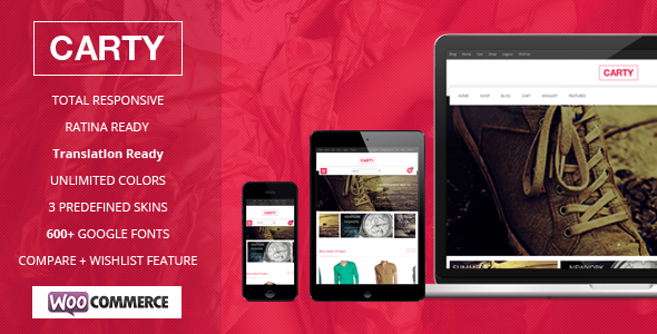 Download Carty Retina – Responsive Woocommerce theme
