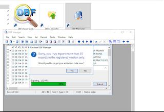 Software Konversi DBF ke Excel