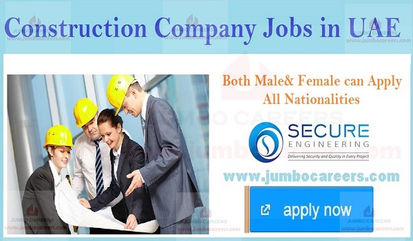 Latest facility management jobs in UAE, Urgent UAE construction company jobs,