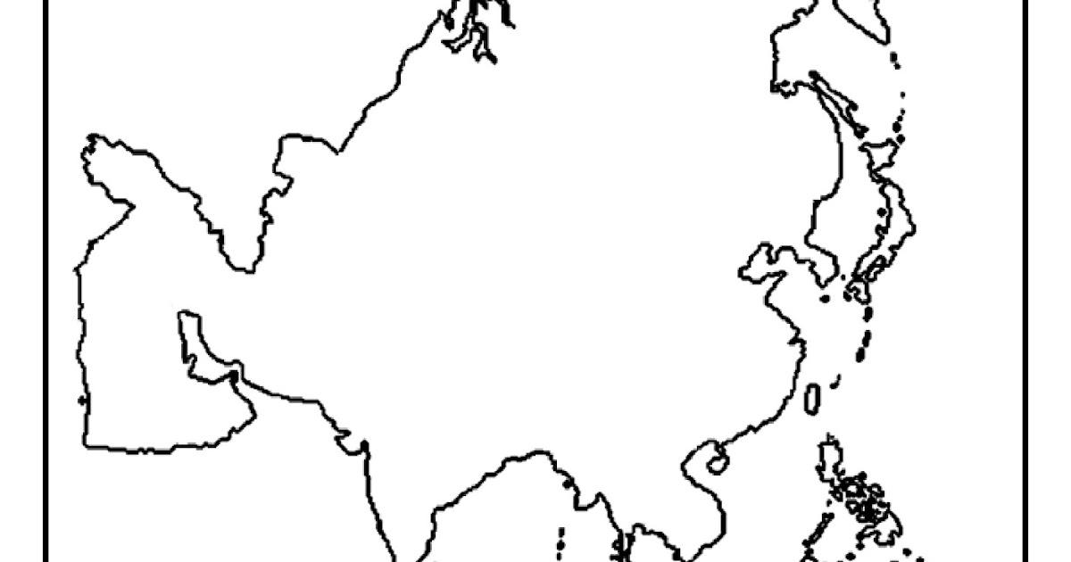 Suporte Geografico Asia Mapas Para Colorir