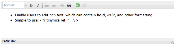 Orbeon Forms — Forms Everywhere: New TinyMCE rich text editor, with