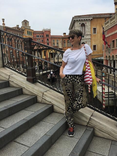 In DisneySea over the Venice canal