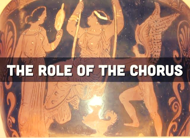 The Chorus is a part of the traditional origin of the Greek drama