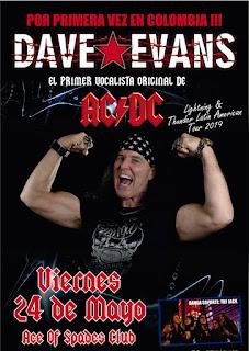 POS Concierto de DAVE EVANS en Bogotá 2019