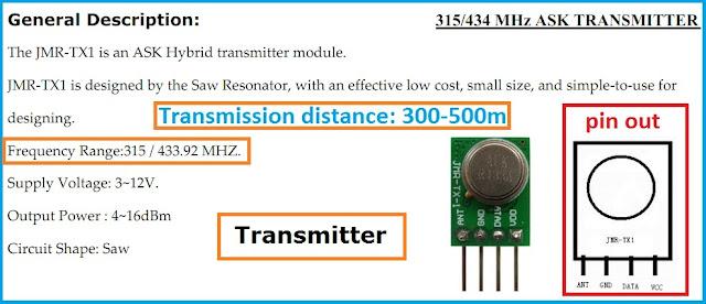 max232 433mhz module