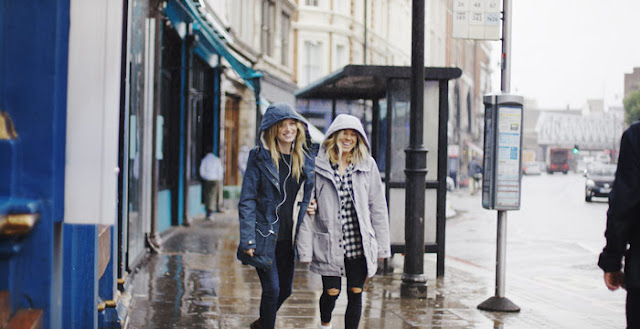 Georgia Jagger and Coco Ho Walk Rain