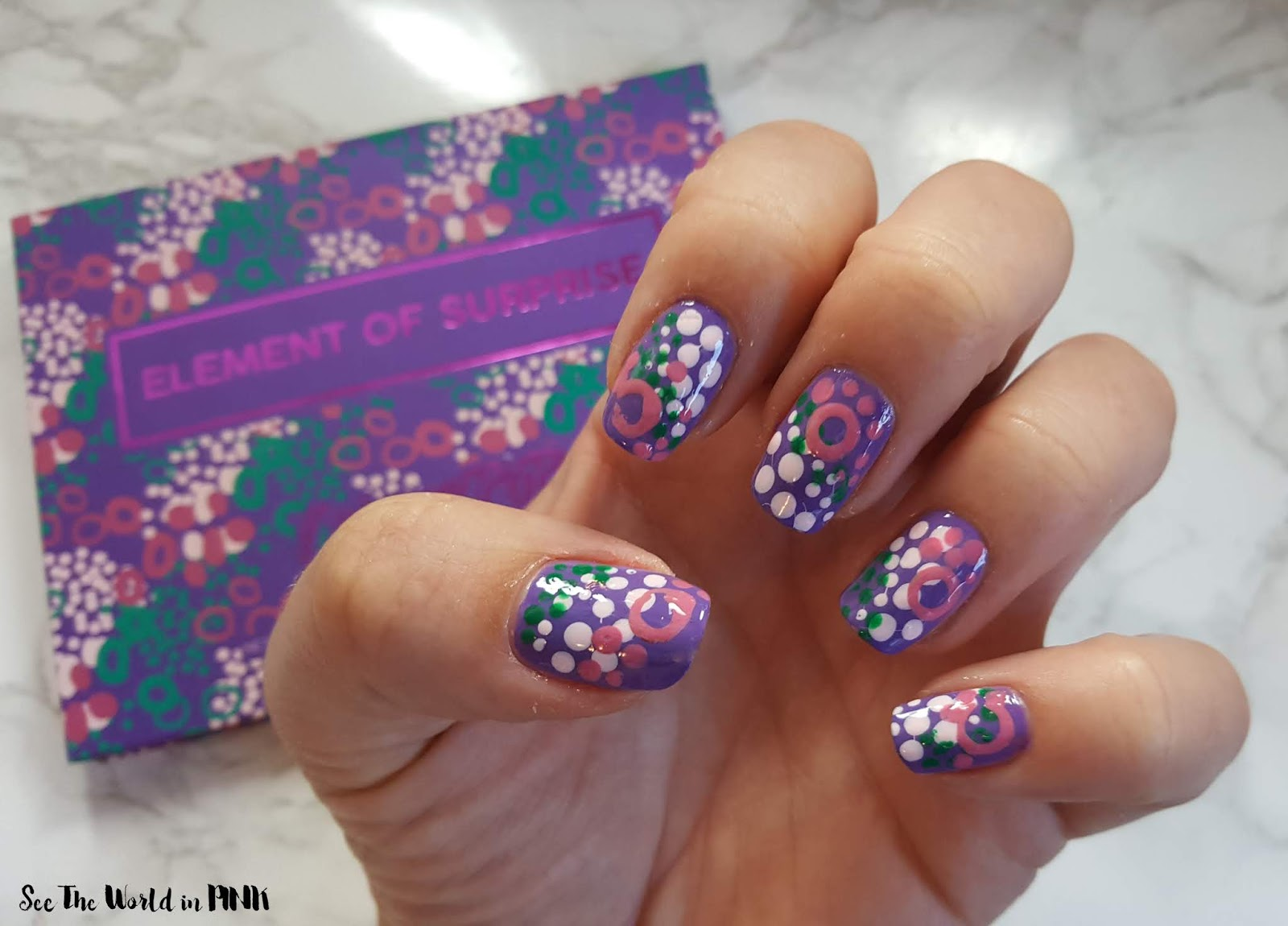 "Manicure Monday ""Inspired By Packaging"" - ColourPop Element Of Surprise Palette Nails, Swatches, Review and Eye Shadow Look!"