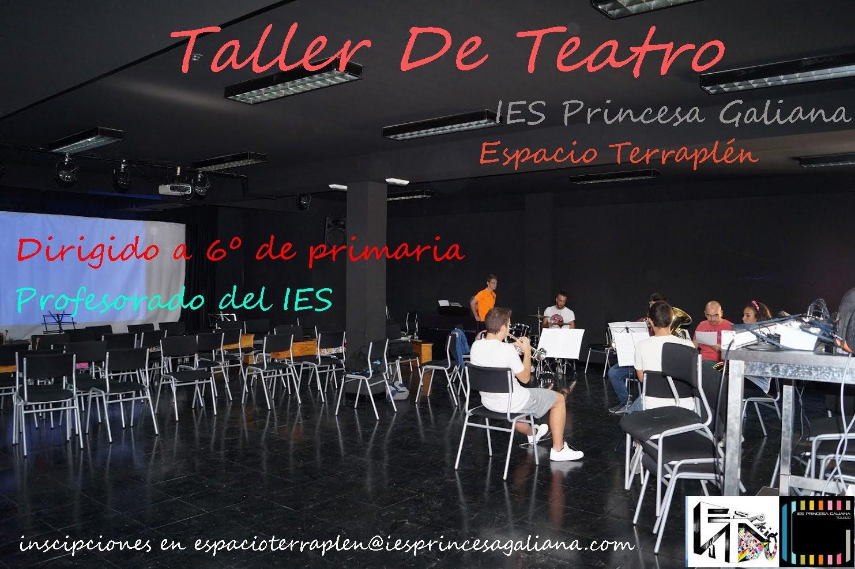 Taller de Teatro dirigido a alumnos de 1° de ESO y de 6º de primaria de los colegios de influencia del centro