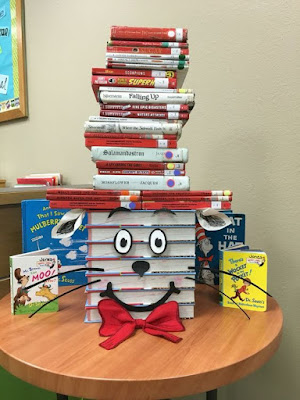 Cat in the Hat book display