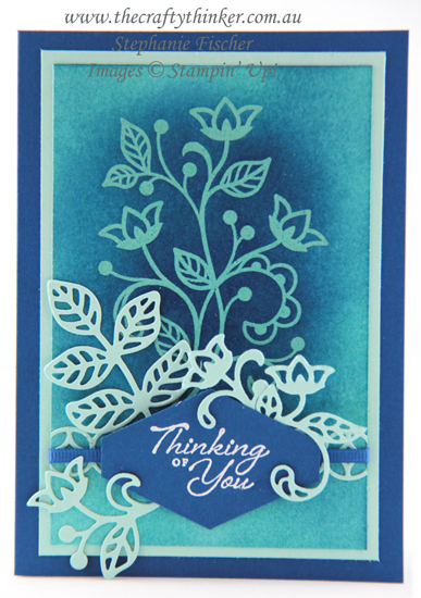 #thecraftythinker #stampinup #cardmaking #embossresist #SDBH #flourishingphrases , Emboss Resist technique, Flourishing Phrases, Stampin Dreams Blog Hop, Stampin' Up Australia Demonstrator, Stephanie Fischer, Sydney NSW