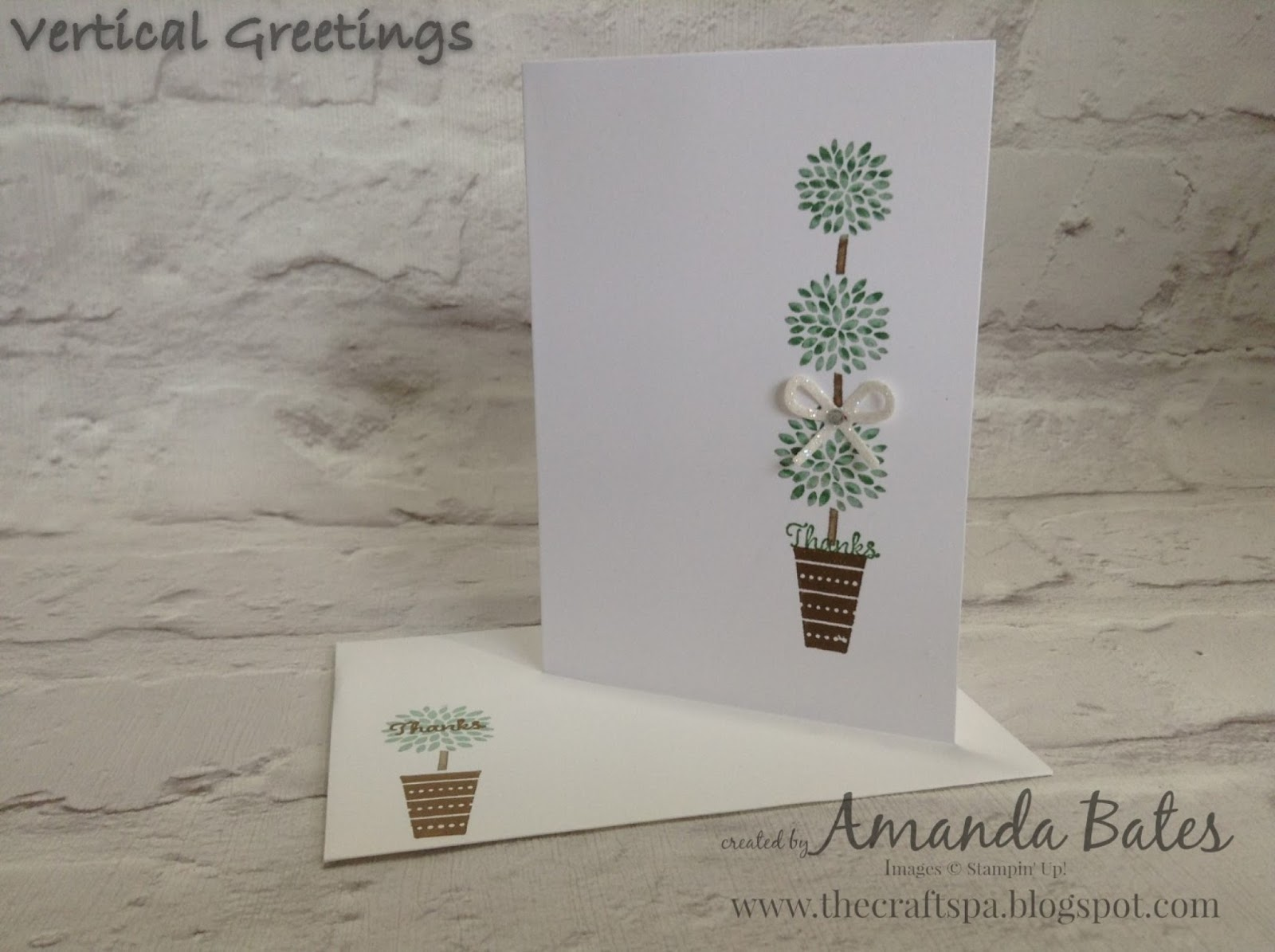 The craft spa stampin up uk independent demonstrator order vertical greetings thanks topiary m4hsunfo